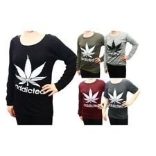 Addicted LOGO MUJER CAMISETAS - largo y manga corta