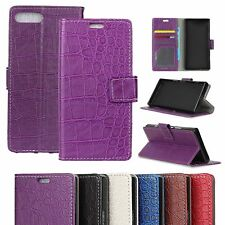 Crocodile Texture Leather Wallet Stand Case Cover For Xiaomi Acer Doogee Phones