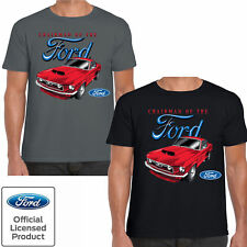 Mens Ford Mustang T Shirt Chairman Retro Classic Vintage American Muscle Car