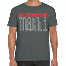 Mens Ford Mustang T Shirt Mach 1 Retro Classic Vintage American Muscle Car