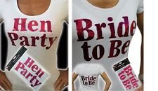 Hen Party Bride to Be Hot Pink Iron On Transfers Hen Party T Shirts Accessories