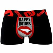 DJEMBE Boxer Homme Coton HAPPY HOURS Noir Rouge