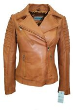 New Luxury Ladies City Jacket Tan Real Soft Nappa Leather Casualm Style Design