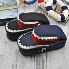 Stationery Shark Large Capacity Canvas Pencil Case Bag Zipper With Code Lock GJC