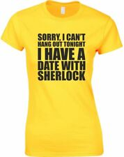 I Have A Date With Sherlock, Ladies Printed T-Shirt