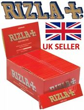 6/25/50 Genuino RIZLA Rojo Tamaño King Papeles de liar fumar Cigarrillo Roll