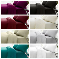 Plain Dyed Percale Poly/cotton Flat Bed Sheet/Pillow Cases Grey Red Navy Pink
