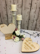 Rustic Alternative Wedding Guest Book & Table Centre Numbers Personalised Wooden