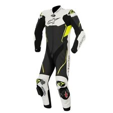 ALPINESTARS ATEM 1 PIECE LEATHER MOTORBIKE MOTORCYCLE SUIT CE APPROVED BLK YELL