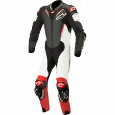 ALPINESTARS ATEM V3 1 PIECE LEATHER MOTORBIKE MOTORCYCLE SUIT BLACK WHITE RED