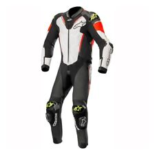 ALPINESTARS ATEM V3 1 PIECE LEATHER MOTORBIKE MOTORCYCLE SUIT WHITE RED YELLOW