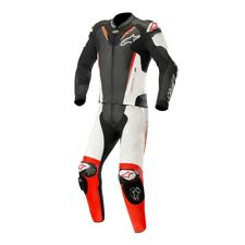 ALPINESTARS ATEM V3 2 PIECE LEATHER MOTORBIKE MOTORCYCLE SUIT BLACK WHITE RED