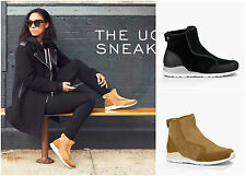 New UGG BNIB £150 Leather Fur Laurelle Women's High Top Shoes Sneaker Boots Sale
