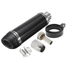 3851MM UNIVERSAL MOTORCYCLE CARBON FIBER EXHAUST MUFFLER PIPE WITH SILENCER