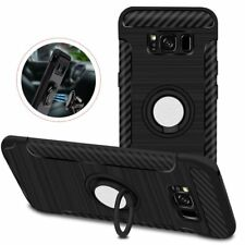 ROTATING RING GRIP HOLDER CARBON FIBER TEXTURE CASE FOR SAMSUNG GALAXY S8