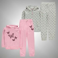 Kids Girls Branded Crafted Stylish Printed Hoody And Joggers Set Size Age 3-12
