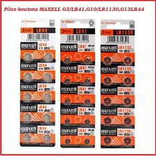 Button Cellule Alcalino / Litio Maxell, LR41/LR1130/LR44 /CR2032/CR2025/CR2016