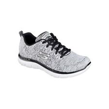 Skechers Flex Appeal 2.0-High Energy Scarpe Sportive Outdoor Donna, Bianco (wbk)