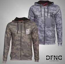 New Mens Branded DFND London Stylish Brushback Fleece Zip Hoody Top Size S M L