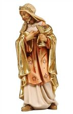 King Melchior statue wood carving, for Nativity set mod. 912