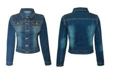 DONNE Giacca di jeans blu scuro jeans vintage giacca giacca