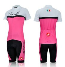 Womens Team Castelli Cycling Jersey and Bib Shorts Set (UK SELLER)