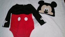 DISNEY STORE MICKEY MOUSE BABY COSTUME BODY SUIT BNWT ALL AGES FANCY DRESS