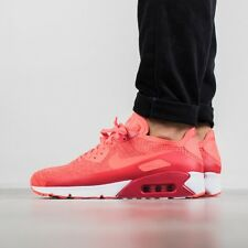 NIKE AIR MAX 90 ULTRA 2.0 FLYKNIT Running Trainers Gym Casual Red Various Sizes
