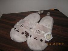 Pusheen Cat Slippers Gift GUND Plush House Shoes One Size NEW With Tags