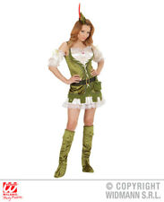 Ladies Medieval Robin Wood Girl Costume Historic Middle Ages Fancy Dress