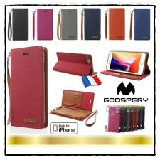Etui Folio housse coque Cuir PU Leather Mercury Stand Wallet Case Cover iPhone