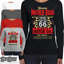 Mujer HOTROD 58 Ropa Camiseta Manga Larga Americano Mother Road OIL 187