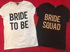 Primark Ladies BRIDE TO BE SQUAD T Shirt Womens HEN PARTY NIGHT DO WEDDING