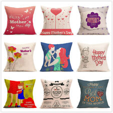 """18""""mother's day loving cotton linen pillow case waist cushion cover Home Decor"""