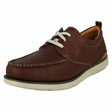 Mens Clarks Casual Lace Up Shoes-Edgewood Mix