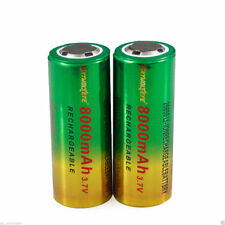 1/2x 3.7 V 8000mAh 26650 batteria ricaricabile Ioni di litio per torcia LED UK