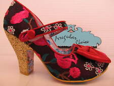 Irregular Choice Fancy This Red Pink Floral Bow Court May Jane Shoe