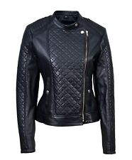 New Luxury Ladies Jacket Black Real Soft Nappa Leather Casual Fit Style Design