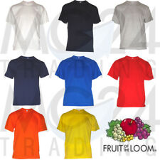 de 10 Lot heavy coton T-shirt pour hommes FRUIT OF THE LOOM Toutes