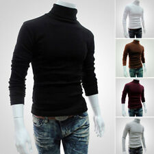 Hommes Col Montant COL ROULé PULL-OVER PULL HAUT PULL T-SHIRT occasionnel