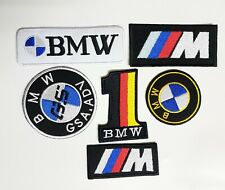 BMW  Logo CAR BIKE Embroidered Iron on Sew on Patches Badges Sports Racing