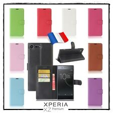 Etui Coque housse XCOLORS Cuir PU Leather Wallet case Sony Xperia XZ Premium