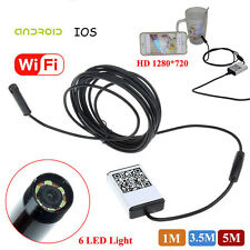 9mm Wifi Endoscope Borescope Inspection Snake Camera for Android IOS iPhone