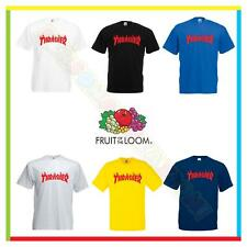 TSHIRT THRASHER SKATEBOARD  MAGAZINE FIAMME FLAME FRUIT OF THE LOOM SKATE