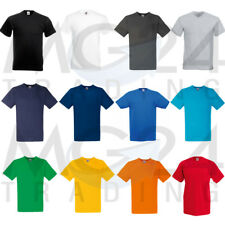 10 SET T-SHIRT UOMO FRUIT OF THE LOOM Unisex S M L XL XXL 12 colori NUOVO