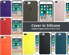 Cover in Silicone Nuova Originale Apple per Iphone 8 Plus 7Plus Vari Colori