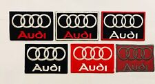 Audi Logo Embroidered Iron ON Sew On Badges patches car racing New Best Quality