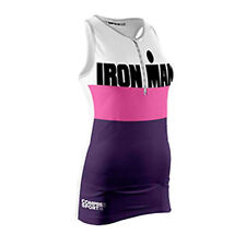 Warehouse Deal - Ironman Compressport Triathlon TR3 Tank Top Woman Stripes