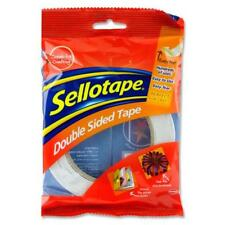 Original Sellotape Double Sided Tape 12mm x 33m - Easy Peel Adhesive tape