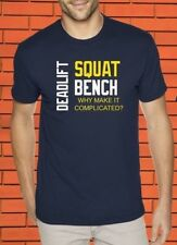 Deadlift Squat Bench Crossfit Gym Fitness Heavy Weight Lifter Protein T shirt